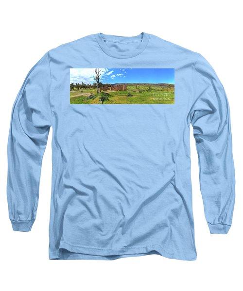 Kanyaka Homestead Ruins Long Sleeve T-Shirt by Bill Robinson