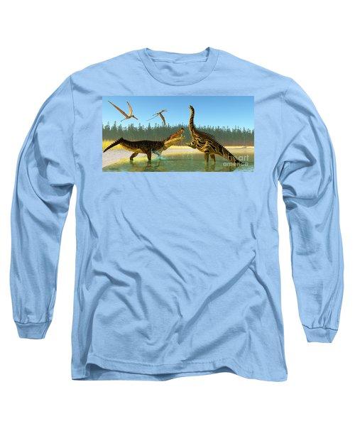 Kaprosuchus Swamp Long Sleeve T-Shirt
