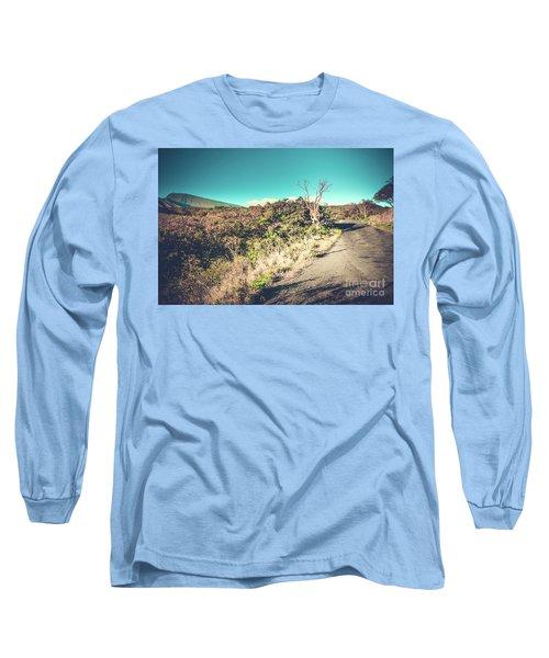 Kaupo Other Road To Hana Sunset Piilani Highway Maui Hawaii Long Sleeve T-Shirt by Sharon Mau