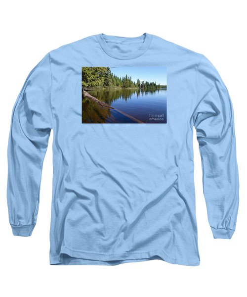 Long Sleeve T-Shirt featuring the photograph Kayaking Serenity by Sandra Updyke