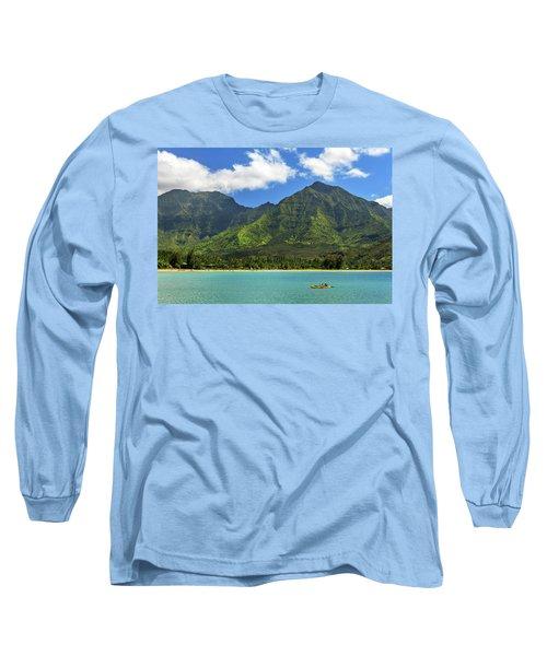 Kayaks In Hanalei Bay Long Sleeve T-Shirt