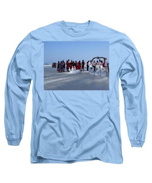 Kenya Wedding On Beach With Maasai Long Sleeve T-Shirt