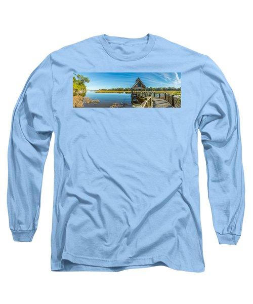 Kiawah Island Boathouse Panoramic Long Sleeve T-Shirt