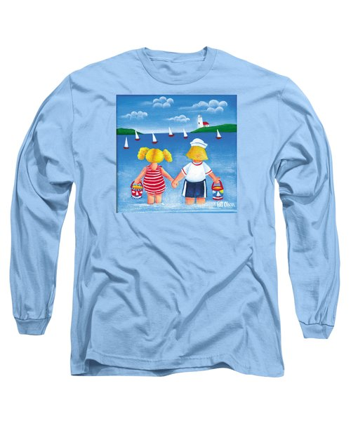 Kids In Door County Long Sleeve T-Shirt by Pat Olson