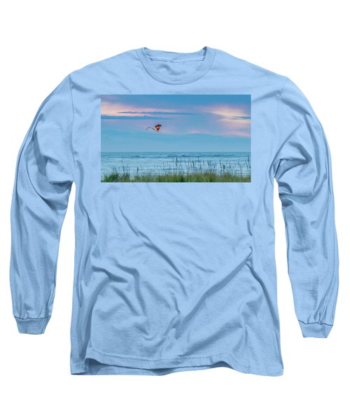 Kite In The Air At Sunset Long Sleeve T-Shirt
