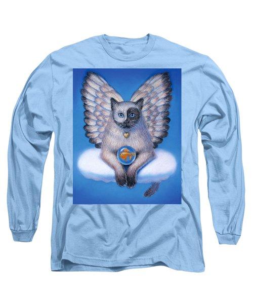Kitty Yin Yang- Cat Angel Long Sleeve T-Shirt