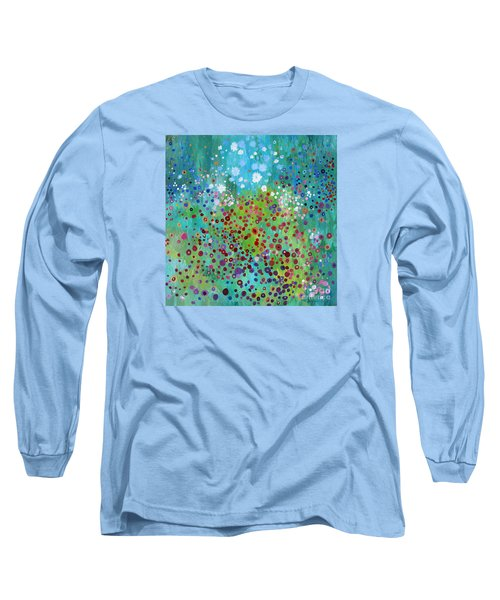 Long Sleeve T-Shirt featuring the painting Klimt's Garden by Stacey Zimmerman