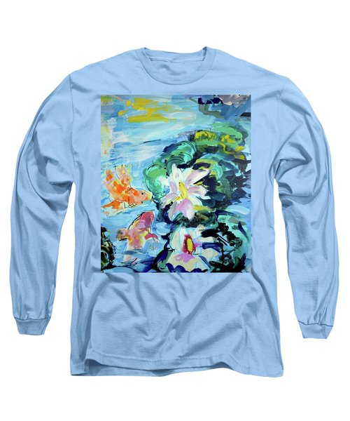 Koi Fish And Water Lilies Long Sleeve T-Shirt
