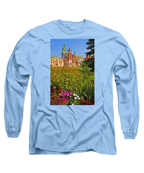 Long Sleeve T-Shirt featuring the photograph Krakow Castle by Dennis Cox WorldViews