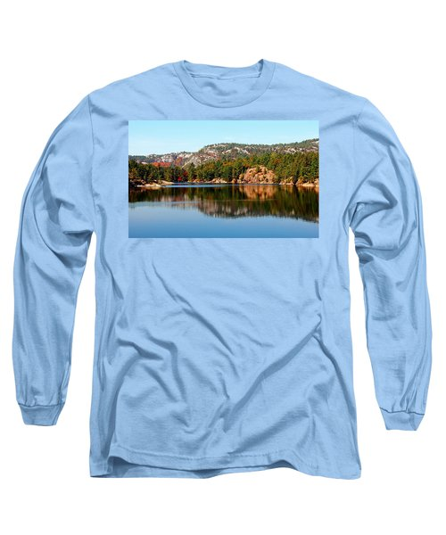 Long Sleeve T-Shirt featuring the photograph La Cloche Mountain Range by Debbie Oppermann