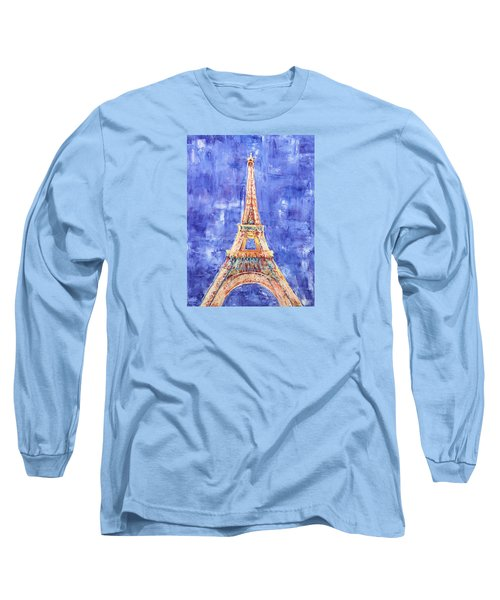 La Tour Eiffel Long Sleeve T-Shirt by Elizabeth Lock