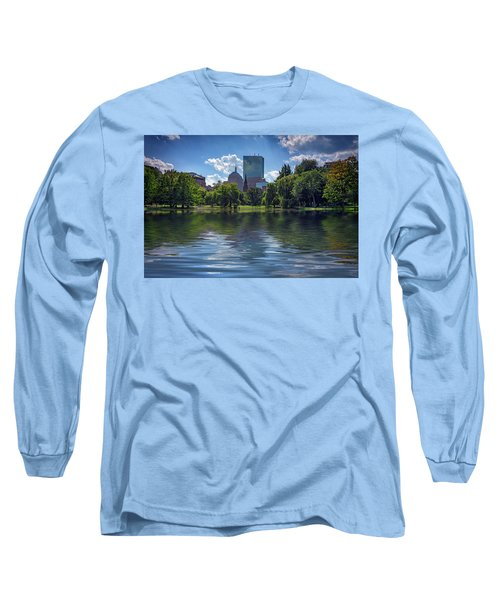 Lagoon In Boston Public Garden Long Sleeve T-Shirt
