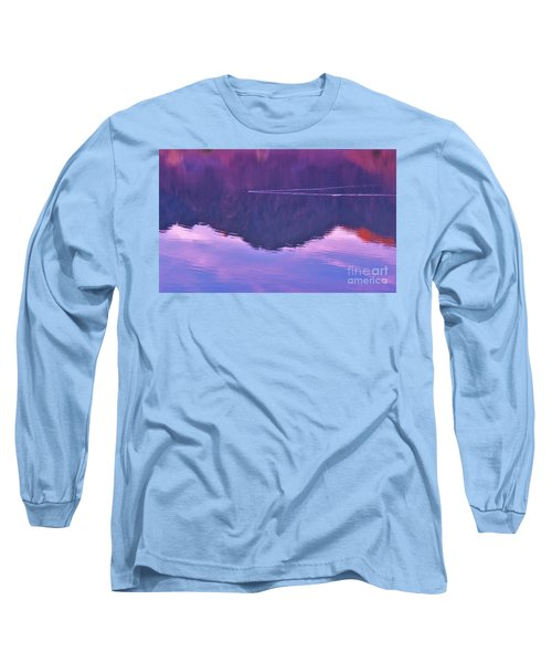 Lake Cahuilla Reflection Long Sleeve T-Shirt by Michele Penner