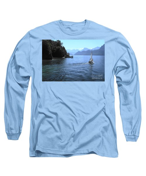 Lake Lucerne Long Sleeve T-Shirt by Therese Alcorn