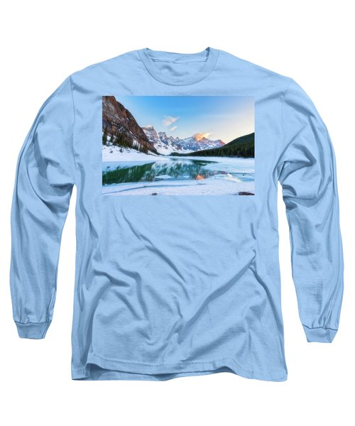 Lake Moraine Sunset Long Sleeve T-Shirt