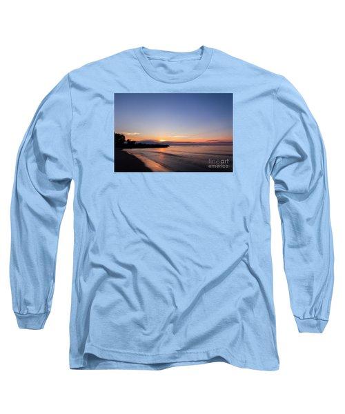Lake Ontario Beach Sunset Long Sleeve T-Shirt