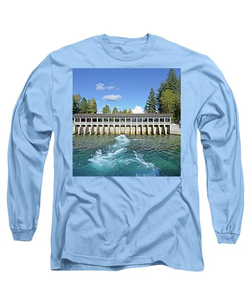 Long Sleeve T-Shirt featuring the photograph Lake Tahoe Dam by David Lawson