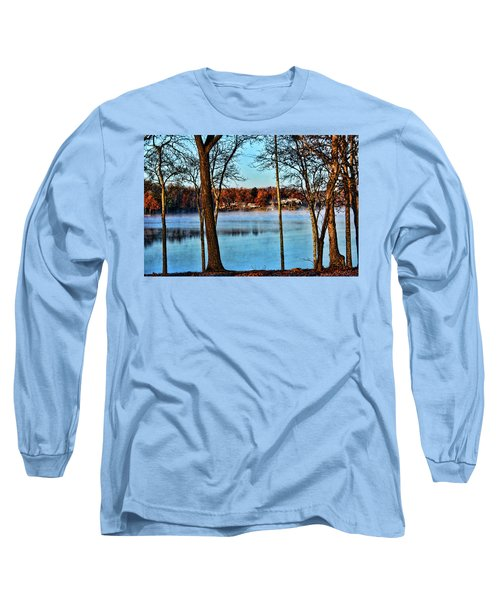Long Sleeve T-Shirt featuring the photograph Lake Vapors by Rick Friedle