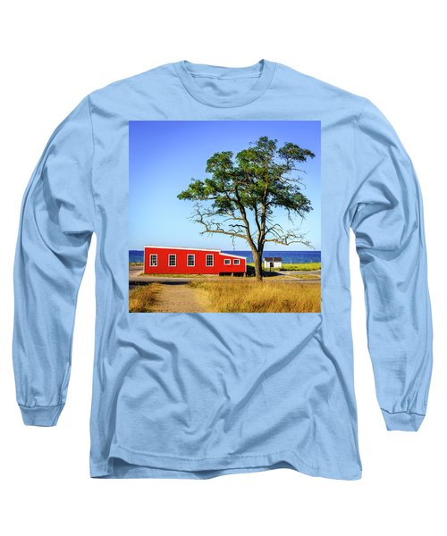 Long Sleeve T-Shirt featuring the photograph Lakefront In Glen Arbor by Alexey Stiop
