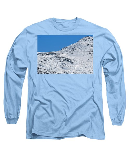 Lakes Of The Clouds Hut And Mount Monroe Long Sleeve T-Shirt