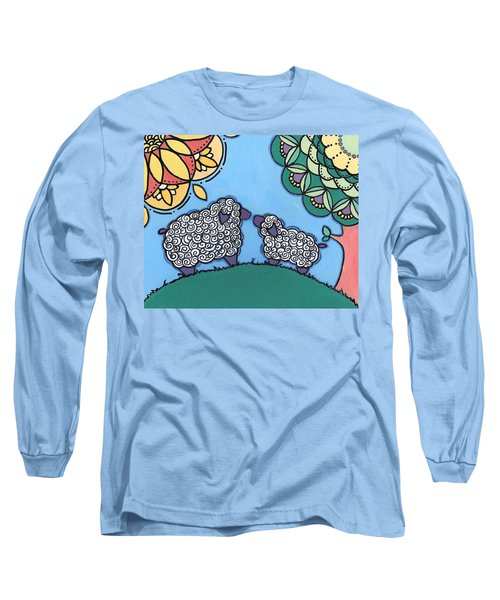 Lamb And Mama Sheep Long Sleeve T-Shirt