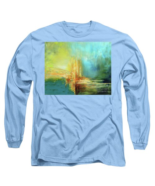 Long Sleeve T-Shirt featuring the painting Land Of Oz by Tatiana Iliina