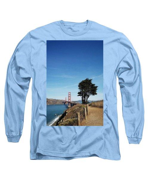 Landscape With Golden Gate Bridge Long Sleeve T-Shirt