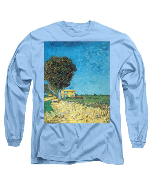 Long Sleeve T-Shirt featuring the painting Lane Near Arles by Van Gogh