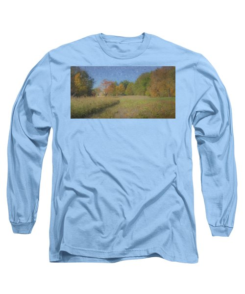 Langwater Farm With Pumpkins And Chateau Long Sleeve T-Shirt
