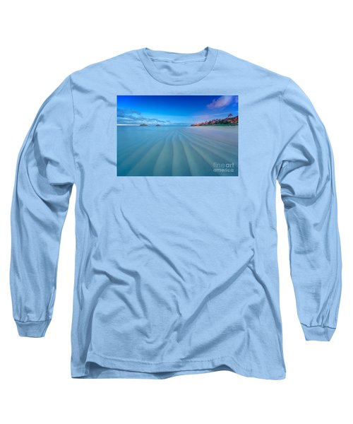Lanikai Beach Ripples In The Sand Wide Long Sleeve T-Shirt