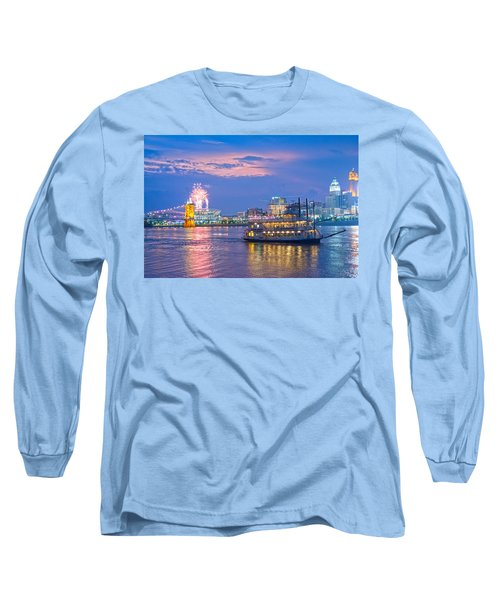 Laser Show Over Paul Brown Stadium  Long Sleeve T-Shirt