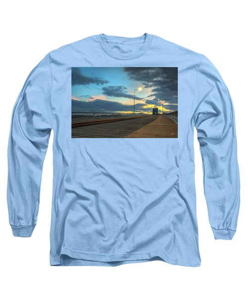 Last Light And Color Over Walnut Long Sleeve T-Shirt by Steven Llorca