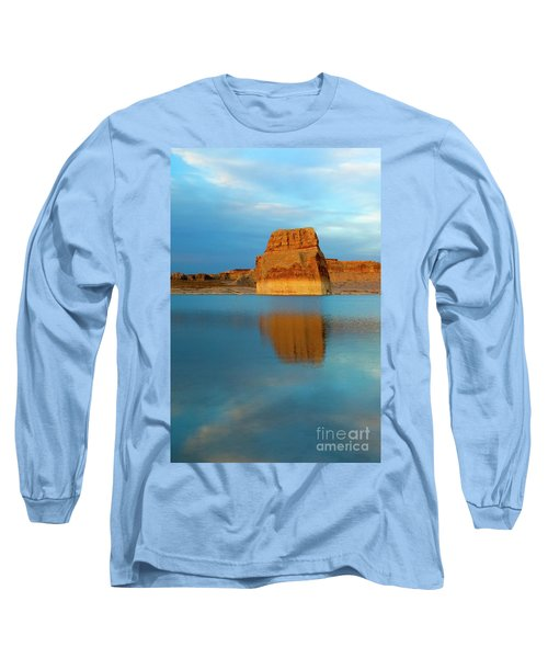 Long Sleeve T-Shirt featuring the photograph Last Light At Lone Rock by Mike Dawson