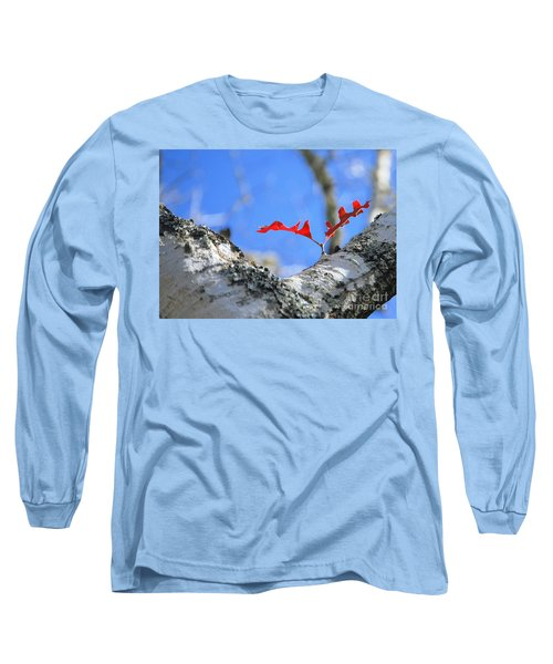 Last To Leaf Long Sleeve T-Shirt by Debbie Karnes