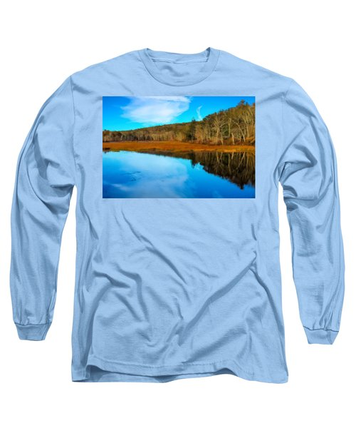 Late Fall At A Connecticut Marsh. Long Sleeve T-Shirt