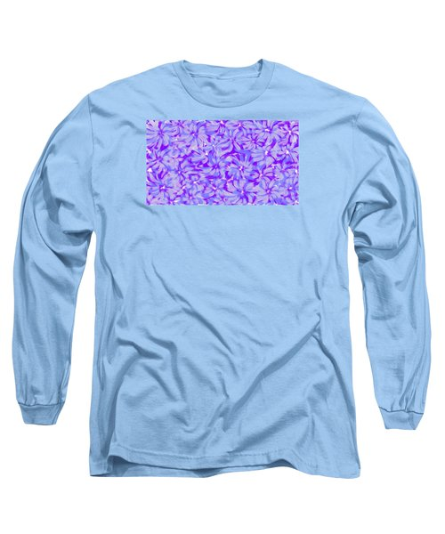 Lavender Blue 1 Long Sleeve T-Shirt by Linda Velasquez