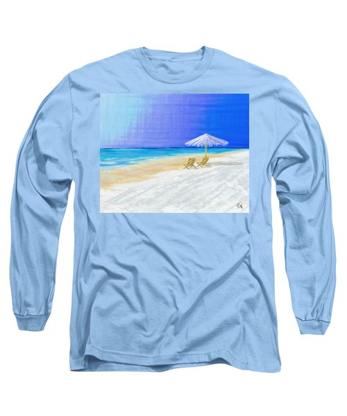 Lawn Chairs In Paradise Long Sleeve T-Shirt by Jeremy Aiyadurai