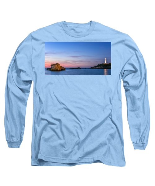Long Sleeve T-Shirt featuring the photograph Le Phare De Biarritz by Thierry Bouriat
