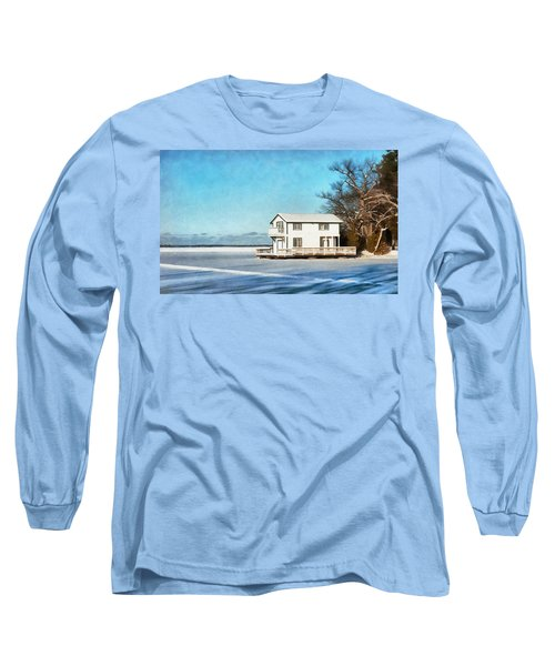 Leacock Boathouse In Winter Long Sleeve T-Shirt