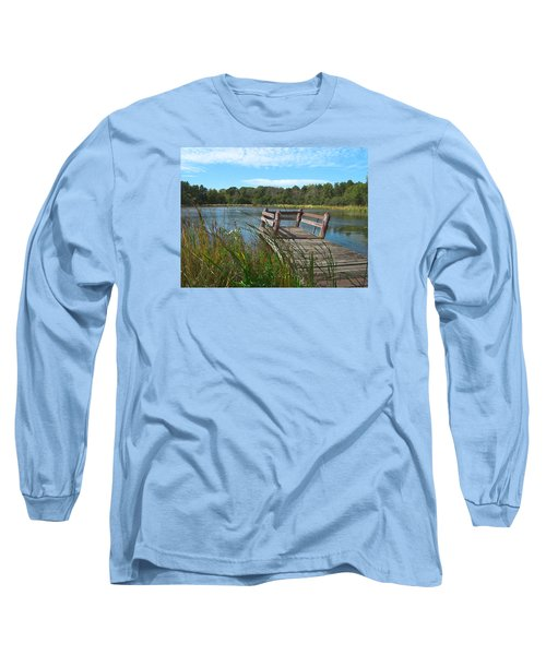 Leaning Pier At Pine Lake Long Sleeve T-Shirt