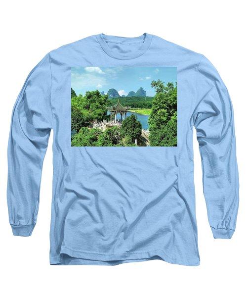 A View In Yangshuo Long Sleeve T-Shirt