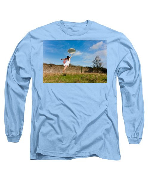 Let The Breeze Guide You Long Sleeve T-Shirt by Semmick Photo