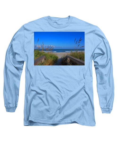 Lets Go To The Beach Long Sleeve T-Shirt by Susanne Van Hulst