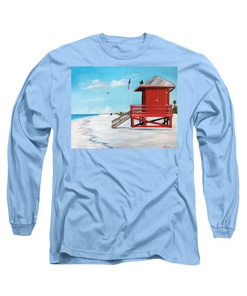 Let's Meet At The Red Lifeguard Shack Long Sleeve T-Shirt