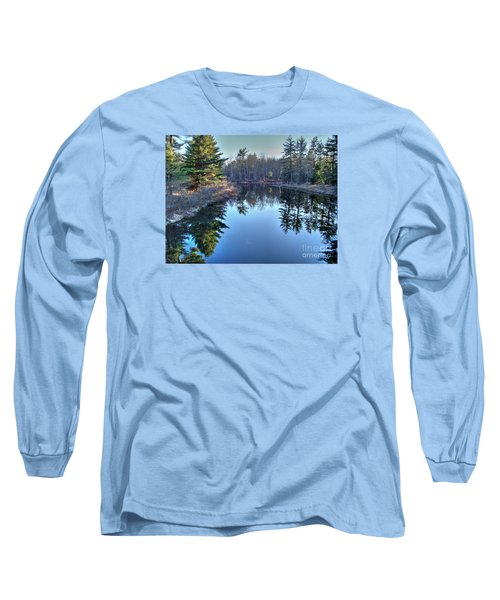 Long Sleeve T-Shirt featuring the photograph L'heure Bleu by Betsy Zimmerli