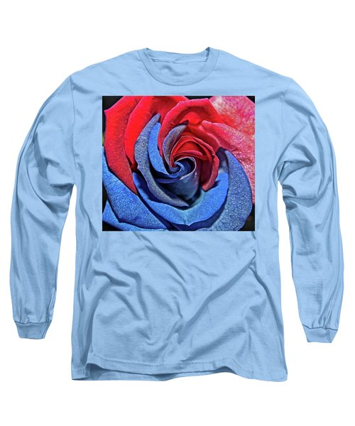 Long Sleeve T-Shirt featuring the photograph Liberty Rose by Judy Vincent
