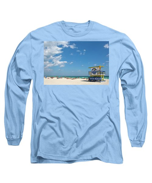 Lifeguard Station Miami Beach Florida Long Sleeve T-Shirt