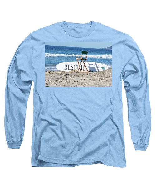 Lifeguard Surfboard Rescue Station  Long Sleeve T-Shirt