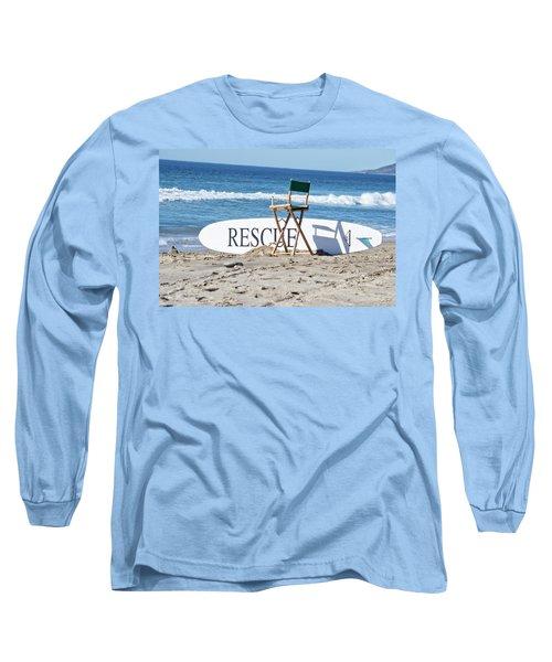 Lifeguard Surfboard Rescue Station  Long Sleeve T-Shirt