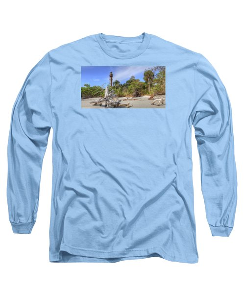 Light Behind The Stump Long Sleeve T-Shirt by Sean Allen